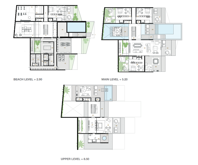 Planning of the apartment Villas 5BR, 13255.54 in Switzerland Island, Dubai