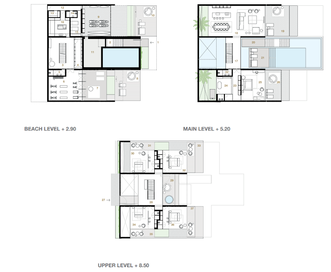 Planning of the apartment Villas 5BR, 9389.14 in Switzerland Island, Dubai