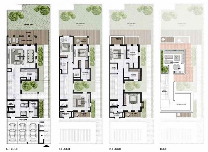 Planning of the apartment Townhouses 4BR, 4795 in Sur La Mer, Dubai