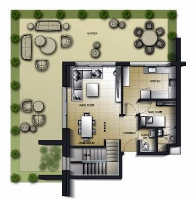 Planning of the apartment Duplexes, 2234.04 in Al Mamsha Apartments, Sharjah