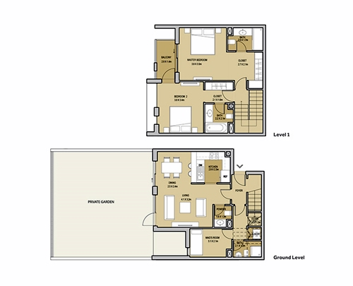 Planning of the apartment 2BR, 2189.7 in Mudon Views, Dubai