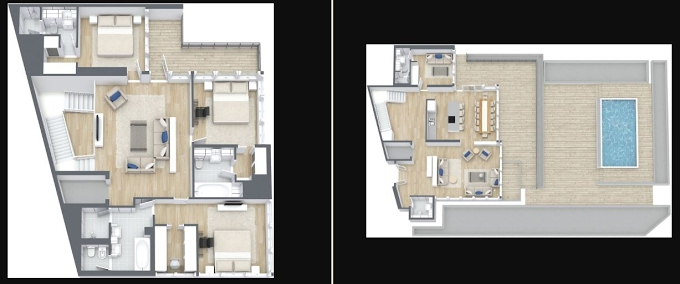 Planning of the apartment Townhouses 3BR, 4951.5 in The 8, Dubai