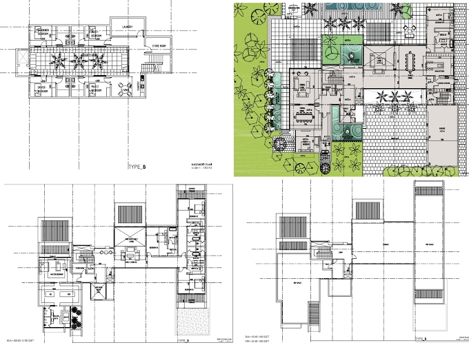 Planning of the apartment Villas 6BR, 17319 in The Reserve, Dubai