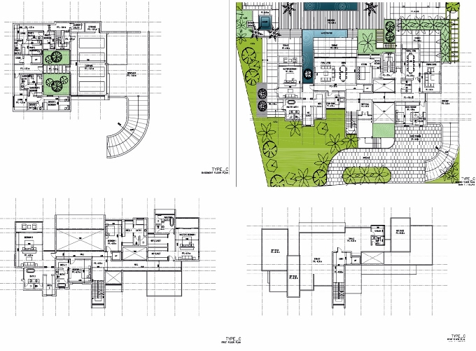 Planning of the apartment Villas 6BR, 14245.71 in The Reserve, Dubai
