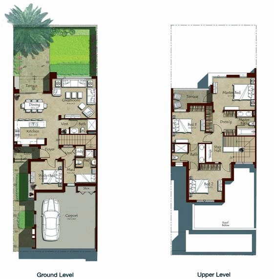 Planning of the apartment Townhouses 4BR, 2387 in Maple at Dubai Hills Estate, Dubai
