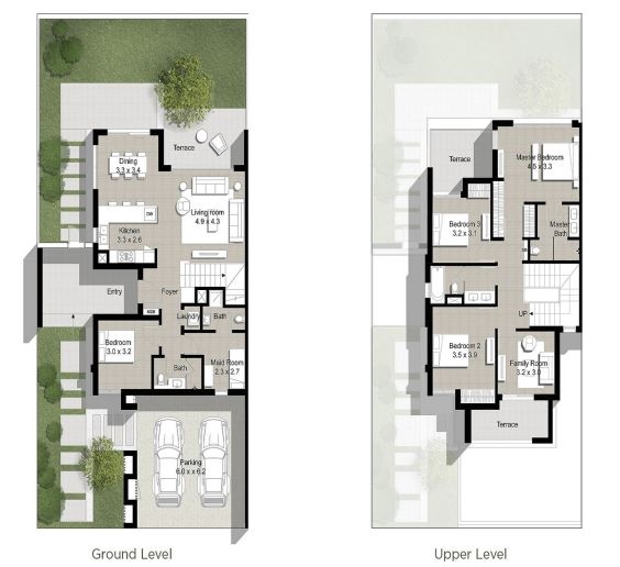 Planning of the apartment Townhouses 5BR, 2726 in Maple at Dubai Hills Estate, Dubai