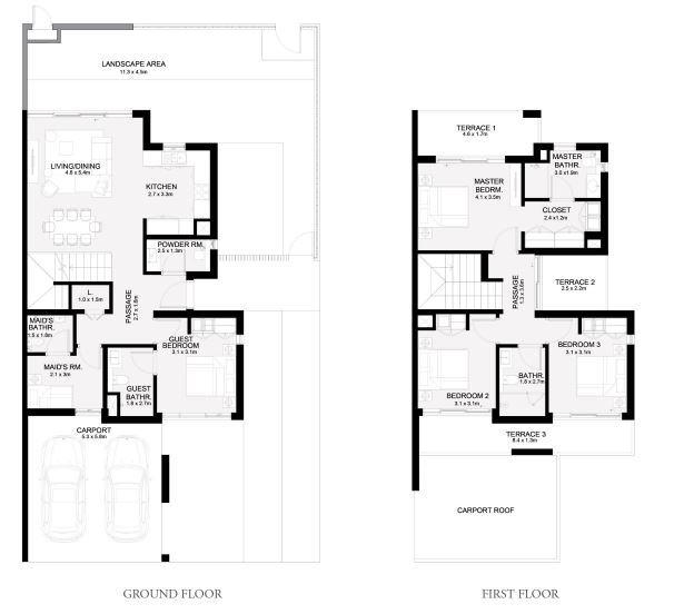 Planning of the apartment Townhouses 4BR, 2508 in Arabian Ranches 3, Dubai