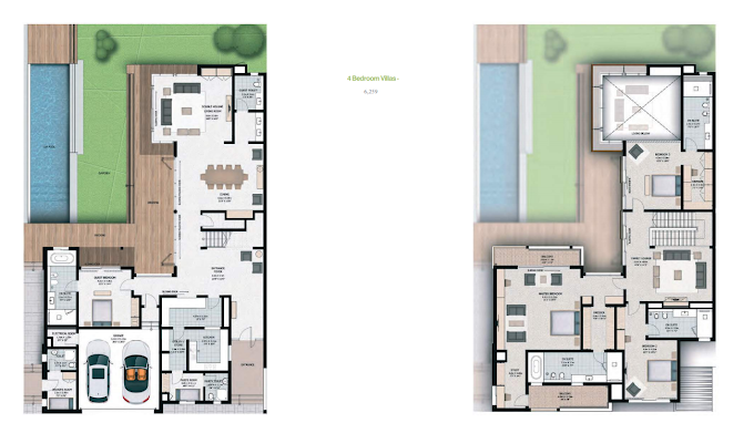 Planning of the apartment 4BR, 6259 in Sobha Hartland Villas, Dubai