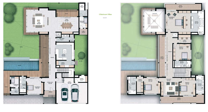 Planning of the apartment 5BR, 8624 in Sobha Hartland Villas, Dubai