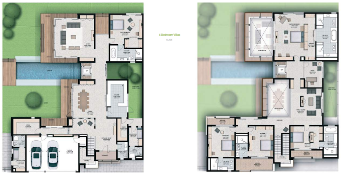 Planning of the apartment 5BR, 8779 in Sobha Hartland Villas, Dubai