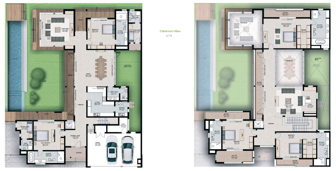 Planning of the apartment 5BR, 8415 in Sobha Hartland Villas, Dubai