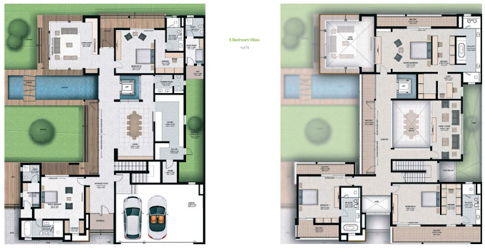 Planning of the apartment 5BR, 9678 in Sobha Hartland Villas, Dubai