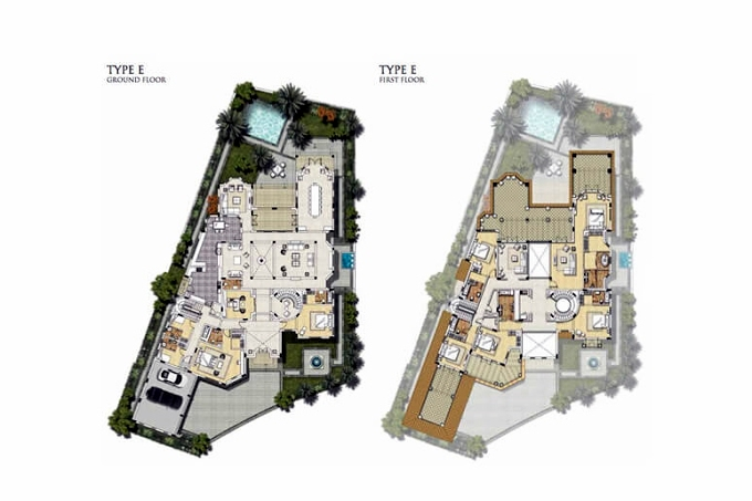 Planning of the apartment Villas, 12916.69 in Royal Golf Boutique Villas, Dubai