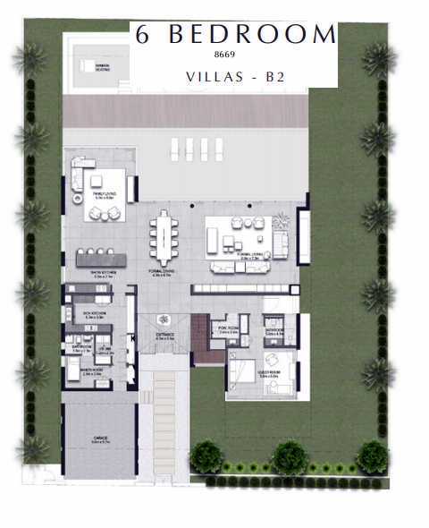 Planning of the apartment 6BR, 8669 in Golf Place Villas, Dubai