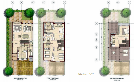 Planning of the apartment Villas, 5182 in Bloom Gardens, Abu Dhabi