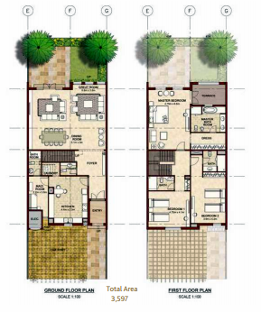 Planning of the apartment Villas, 3597 in Bloom Gardens, Abu Dhabi