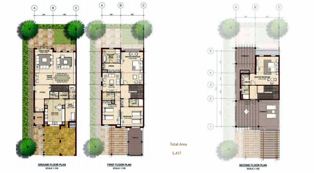 Planning of the apartment Villas, 5417 in Bloom Gardens, Abu Dhabi