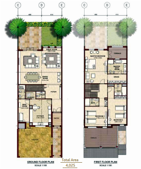 Planning of the apartment Villas, 4025 in Bloom Gardens, Abu Dhabi