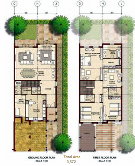 Planning of the apartment Villas, 3572 in Bloom Gardens, Abu Dhabi