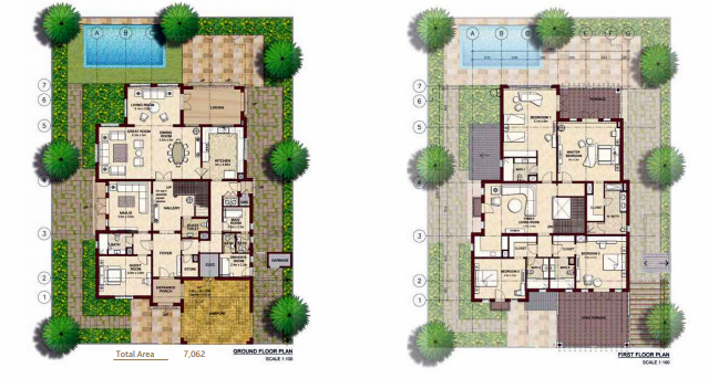 Planning of the apartment Villas, 7062 in Bloom Gardens, Abu Dhabi