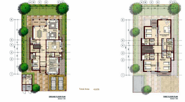 Planning of the apartment Villas, 4626 in Bloom Gardens, Abu Dhabi