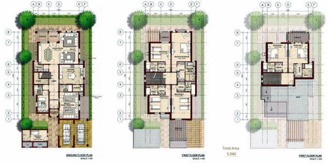 Planning of the apartment Villas, 5985 in Bloom Gardens, Abu Dhabi