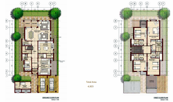Planning of the apartment Villas, 4923 in Bloom Gardens, Abu Dhabi