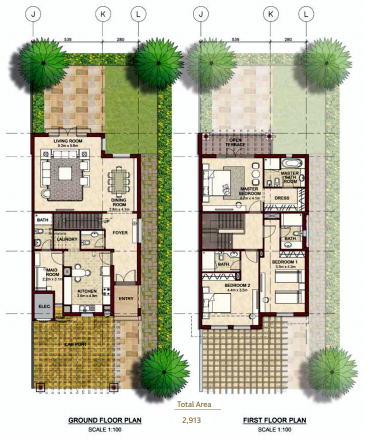 Planning of the apartment Villas, 2913 in Bloom Gardens, Abu Dhabi