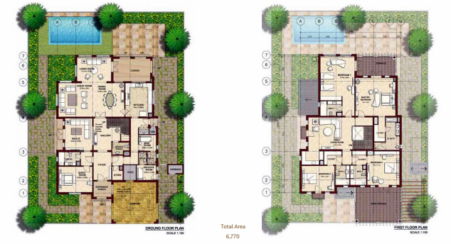 Planning of the apartment Villas, 6770 in Bloom Gardens, Abu Dhabi