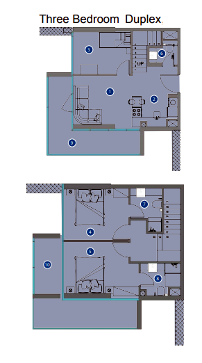 Planning of the apartment Duplexes, 1060.78 in Azizi Victoria Apartments, Dubai