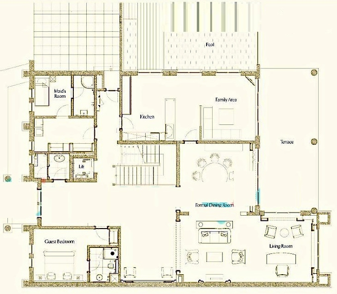 Planning of the apartment 5BR, 7758 in Zabeel Saray Royal Residences, Dubai