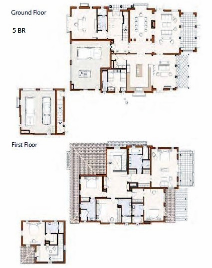 Planning of the apartment 5BR, 6405 in Redwood Avenue Villas, Dubai