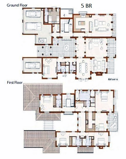 Planning of the apartment 5BR, 8421 in Redwood Avenue Villas, Dubai