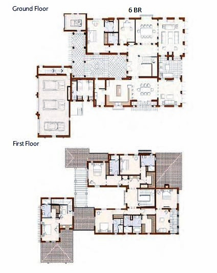 Planning of the apartment 6BR, 10936 in Redwood Avenue Villas, Dubai