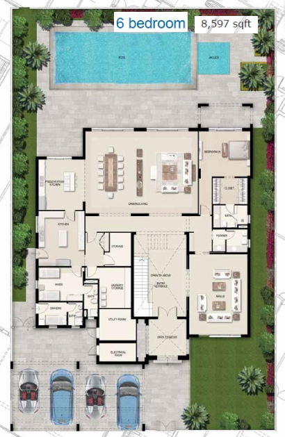 Planning of the apartment Villas, 8597 in District One Villas, Dubai