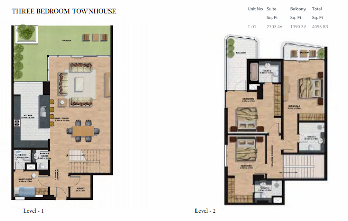Planning of the apartment Townhouses, 4093.63 in Gemini Splendor Apartments & Townhouses, Dubai