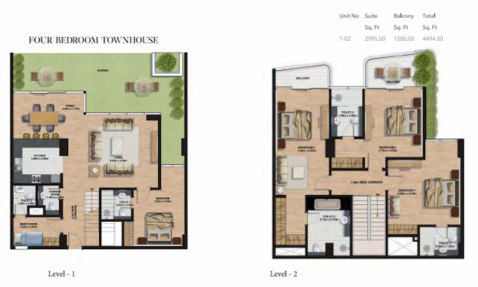 Planning of the apartment Townhouses, 4494 in Gemini Splendor Apartments & Townhouses, Dubai