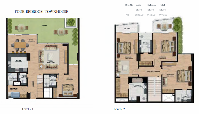 Planning of the apartment Townhouses, 4490 in Gemini Splendor Apartments & Townhouses, Dubai