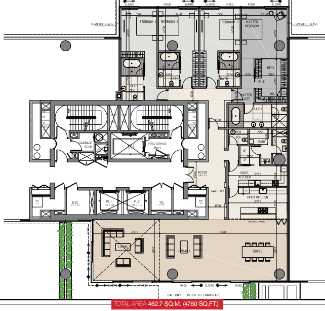 Planning of the apartment 4BR, 4780 in One Palm, Dubai