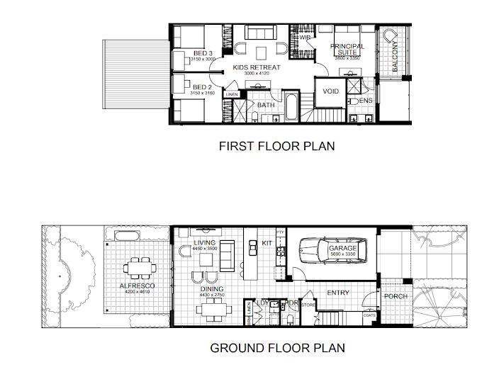Planning of the apartment 3BR, 2131 in The Habitat, Dubai