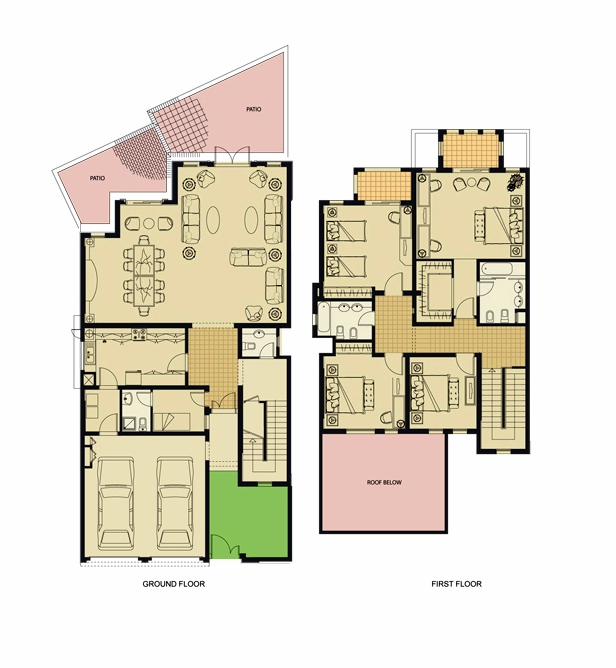 Planning of the apartment Villas, 3120 in Al Badia Residence Apartments, Dubai