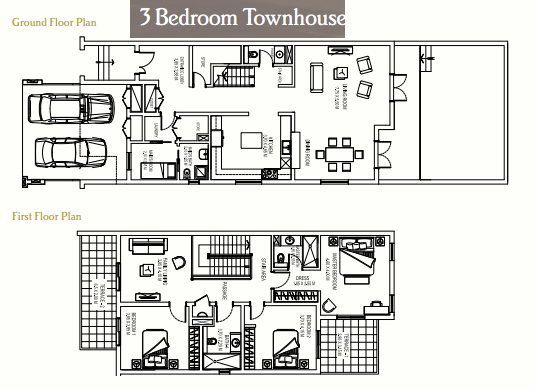 Planning of the apartment Townhouses, 3242 in Nakheel Al Furjan Villas and Townhouses, Dubai