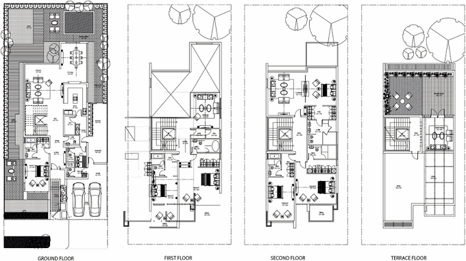 Planning of the apartment Villas, 6044 in Grand Views, Dubai