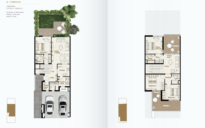 Planning of the apartment Townhouses 4BR, 2321 in Jade The Fields, Dubai