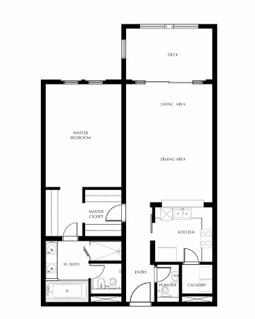 Planning of the apartment 1BR, 1130.21 in Saadiyat Beach Residences, Abu Dhabi