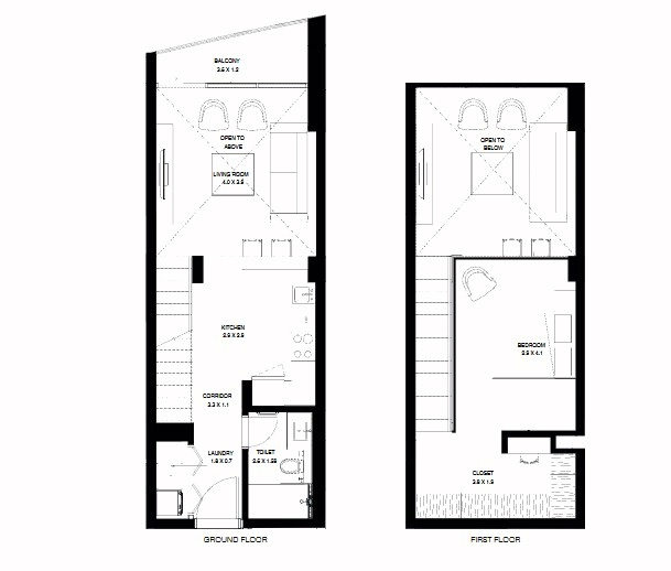 Planning of the apartment 1BR, 899.22 in NorthBay Residences, Ras Al Khaimah