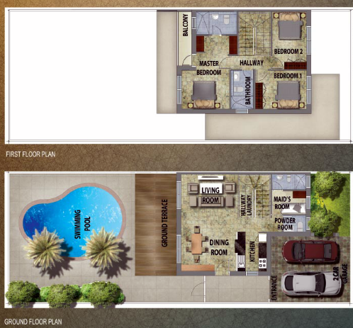 Planning of the apartment Villas 3BR, 2330 in Al Reef 2, Abu Dhabi