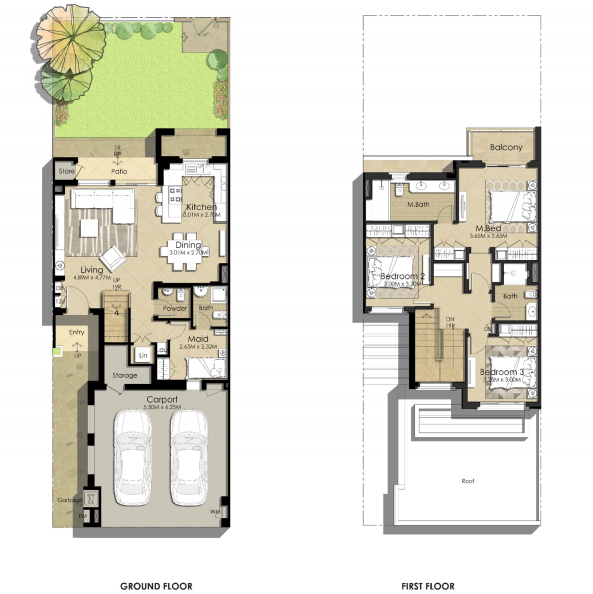 Planning of the apartment Villas 3BR, 2231.36 in Sama Townhouses, Dubai