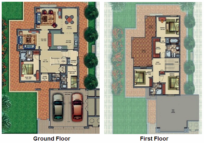 Planning of the apartment Villas, 3199 in Victory Heights, Dubai