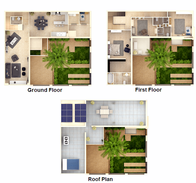 Planning of the apartment Villas 3BR, 3423 in The Sustainable City, Dubai